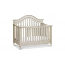 Amelia 4-in-1 Convertible Crib With Toddler Bed Conversion Kit Distressed White
