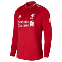 New Balance 839808 Men's LFC Mens Salah Home Long Sleeve EPL Patch Jersey by New Balance in Palo Alto CA