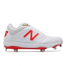 Fresh Foam 3000v4 White Flame Men s Low-Cut Cleats Shoes by New Balance 10e6f2fd99f