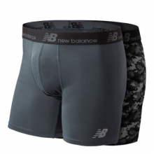 1005 Men's NB Dry 6 Inch Boxer Brief 2 Pack by New Balance
