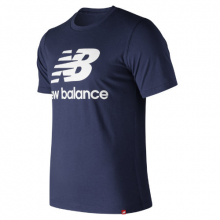 91546 Men's Essentials Stacked Logo Tee by New Balance