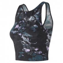 91471 Women's Printed Evolve Crop Tank by New Balance in Mystic Ct