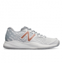 Leather 696v3 Women's Tennis Shoes by New Balance in Mystic Ct