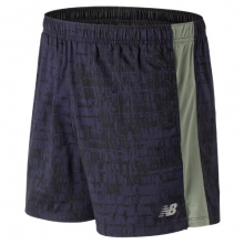 New Balance 91179 Men's Printed Accelerate 5 Inch  Short by New Balance