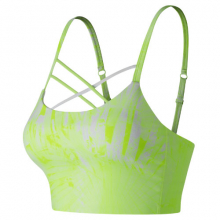 New Balance 91149 Women's Printed Feel The Cool Crop Bra by New Balance in Mystic Ct