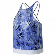 New Balance 91150 Women's Printed Feel The Cool Tank by New Balance in Mystic Ct