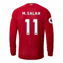 939808 Men's Liverpool FC Home LS Jersey Salah EPL Patch