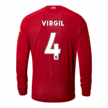 New Balance 939843 Men's Liverpool FC Home LS Jersey Virgil No EPL Patch