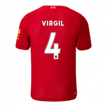 939842 Men's Liverpool FC Home SS Jersey Virgil No EPL Patch by New Balance