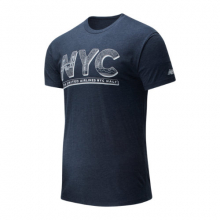 01638 Men's 2020 United Airlines Half NYC Skyline Tee by New Balance