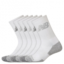 Men's and Women's Performance Cushion Crew Socks 6 Pack by New Balance