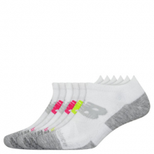 Men's and Women's Performance Cushion Low Cut Socks 6 Pack by New Balance