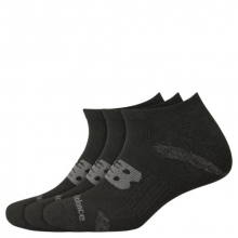 Men's and Women's Performance Cushion No Show Socks 3 Pack by New Balance