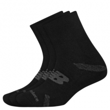 Men's and Women's Performance Cushion Quarter Socks 3 Pack by New Balance