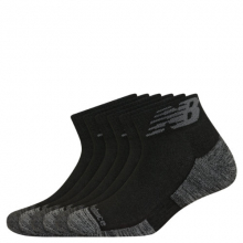 Men's and Women's Performance Cushion Quarter Socks 6 Pack by New Balance