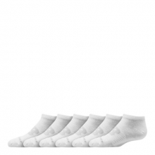 03326 Kids' Kids Flat Knit No Show Socks 6 Pack