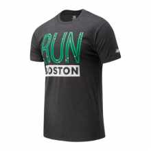 New Balance 01606 Men's Run Boston Green Line Graphic Tee by New Balance