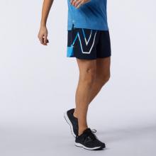 01242 Men's Printed Impact Run 5 Inch Short by New Balance in Dallas TX