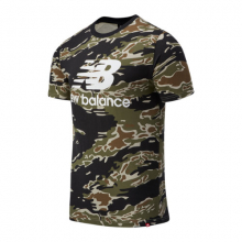 New Balance 03548 Men's Essentials Stacked Logo Tee AOP by New Balance