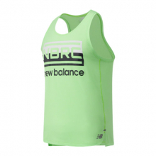 01233 Men's Printed Impact Run Singlet by New Balance