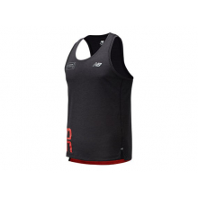 London Marathon Printed Impact Run Singlet by New Balance