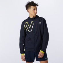 01238 Men's Printed Impact Run Light Pack Jacket by New Balance in Dallas TX