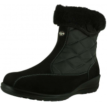 Women's Ellie Korrina Wide Black Waterproof Nubuck