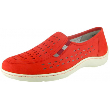 Janna Henni Perf Slip On Red Nubuck