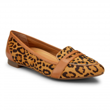 GEM SAVANNAH LEOPARD LOAFER FLAT by Vionic Brand in St Joseph MO