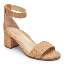 Women's Papaya Rosie Cork Ankle Strap Heel by Vionic Brand in Knoxville TN