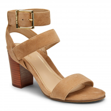 PERK SOFIA SUEDE ANKLE STRAP HEEL