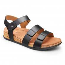 Women's Copal Colleen Leather 3/4 Strap Sandal by Vionic Brand in Dubuque IA