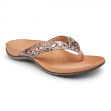 Women's Rest Lucia Snake Toe Post Sandal by Vionic Brand in Fort Morgan CO