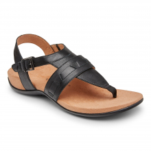 Women's Rest Lupe Full Grain 3/4 Strap Sandal by Vionic Brand in Ames IA