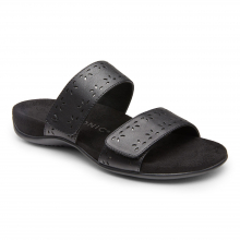 REST RANDI LEATHER SLIDE SANDAL by Vionic Brand