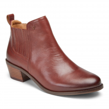 Women's Joy Bethany Leather Ankle Boot by Vionic Brand in Cape Girardeau MO