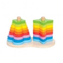 Double Rainbow Stacker by Hape