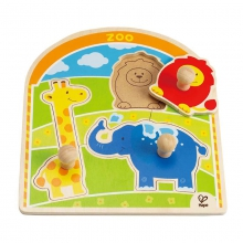 At the Zoo Knob Puzzle by Hape