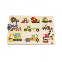 Construction Site Peg Puzzle by Hape