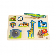 Wild Animals Peg Puzzle by Hape