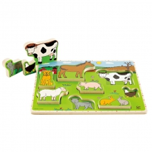 Farm Animals Stand-up Puzzle by Hape