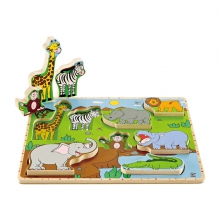 Wild Animals Stand-up Puzzle by Hape