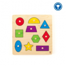 Geometric Shapes Knob Puzzle by Hape