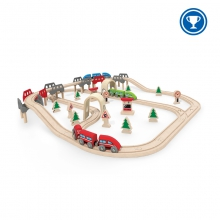High & Low Railway Set by Hape