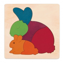 Rainbow Rabbit by Hape