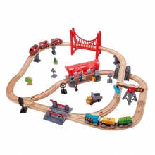 Busy City Rail Set by Hape