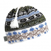 Classic Wool Ski Hats: Tassel Beanie Lady Fairisle by Turtle Fur in Arcadia Ca