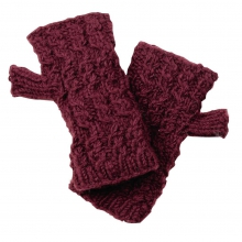 Nepal: Mika Fingerless Mittens by Turtle Fur