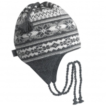 Classic Wool Ski Hats: Earflap Nighthorse by Turtle Fur