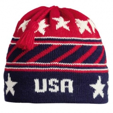 Vermont Originals: Stripes Tassel Beanie by Turtle Fur in Glenwood Springs CO